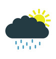 sun icon with rain vector image