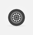 truck wheel icon or design element vector image vector image