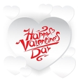 Valentine s day card vector image vector image