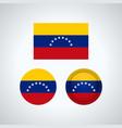 venezuelan trio flags vector image vector image