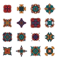 Vintage ethnic tribal design ornamental tiles vector image vector image