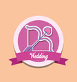 wedding celebration card with cupid bow vector image vector image