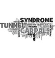 what is carpal tunnel syndrome text word cloud vector image vector image