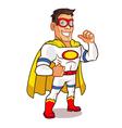 White Superhero vector image vector image