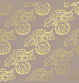 winter golden pattern vector image vector image