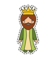 wise man epiphany manger character vector image vector image