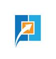 square arrow business logo vector image