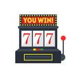 cartoon slot machine with one arm gambling vector image
