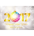 Abstract Beauty 2017 New Year Celebration Poster vector image vector image