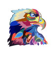 abstract image of an eagle a symbol of the united vector image vector image