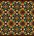 abstract mosaic ornament seamless pattern vector image