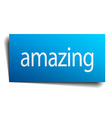 amazing blue square isolated paper sign on white vector image vector image