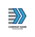 arrow business company logo vector image vector image