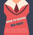 back to school sale poster with text vector image vector image