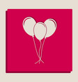 balloons set sign grayscale version of vector image vector image