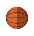 basketball ball sport school shadow vector image vector image