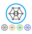 bitcoin euro financial network rounded icon vector image vector image
