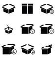 box icon set vector image