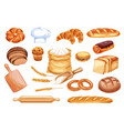 bread watercolor icon of bakery and pastry food vector image
