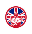 british barber union jack flag icon vector image vector image