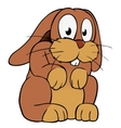 brown cartoon rabbit vector image vector image