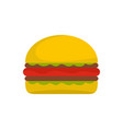 burger icon flat style vector image