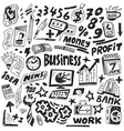 Business - doodles set vector image vector image