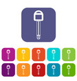 car key icons set vector image vector image