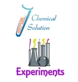 Chemical flasks and test tubes logo vector image vector image