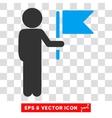 Child Commander Eps Icon vector image vector image