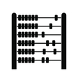 Children abacus black simple icon vector image vector image