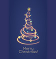 christmas tree is depicted in a symbolic vector image