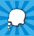 comic speech bubble thoughts skull shape vector image
