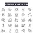 communication services line icons signs vector image vector image