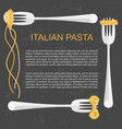 concept for pasta label vector image vector image