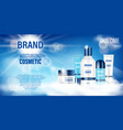 cosmetic product bottle ad design realistic spray vector image vector image