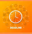 deadline concept with realistic detailed 3d wall vector image vector image