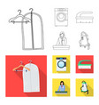 design laundry and clean symbol set of vector image vector image