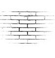 distress brickwall overlay vector image vector image