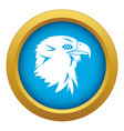 eagle icon blue isolated vector image vector image
