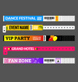 entrance bracelet at concert event zone festival vector image