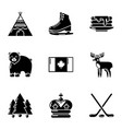 expanse icons set simple style vector image vector image