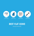 flat icon workshop set of petrol carrying vector image vector image