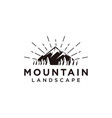 forest and mountain landscape logo icon template vector image vector image