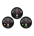 fuel gauge set of round black car dashboard 3d vector image vector image
