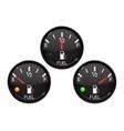 fuel gauge set round black car dashboard 3d vector image vector image