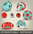 Futuristic ball set vector | Price: 1 Credit (USD $1)