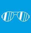 glasses icon white vector image