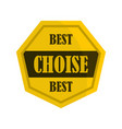 golden best choise label icon flat style vector image vector image