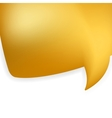 Golden shiny modern speech bubble EPS 8 vector image
